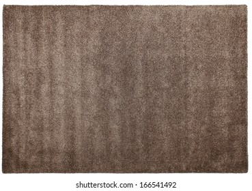 Modern woolen carpet of shaggy of handwork on a white background