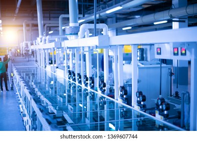 Modern Workshop of Electronic Automation Factory