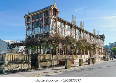 Modernist building 'La Terraza', in the municipality of Sada Sada (Coruna), Galicia, Spain 29/12/2019