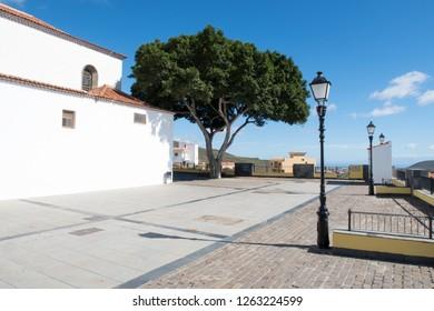 Modernized and restored parvis / church square of the Parish of de San Miguel Arcángel in San Miguel de Abona, Tenerife, Spain.