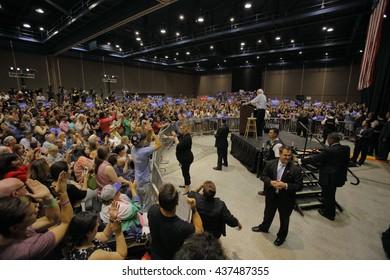 MODESTO, CA- JUNE 02, 2016: Democratic Presidential Candidate Bernie Sanders speaks at a Presidential campaign rally at Modesto Centre Plaza, Modesto, CA.Ã??