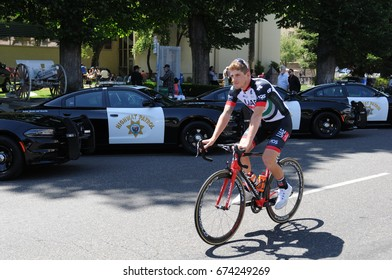MODESTO - MAY 15:  Federico Zurlo (ITA) rides to sign in before the start of stage 2 at the Amgen Tour of California on May 15, 2017 in Modesto, California.