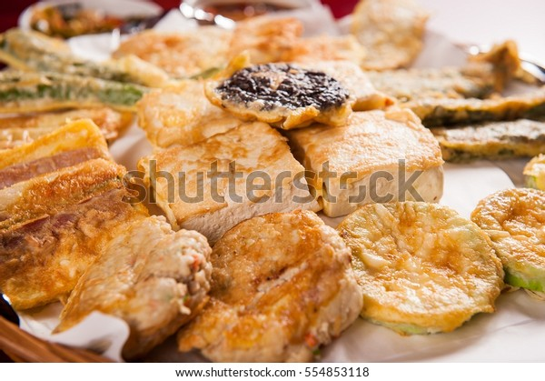 Modeumjeon Made Dish Assorted Panfried Vegetable Stock Photo Edit