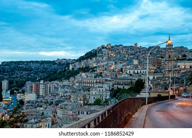 Modica in the sunset, Sicily, Italy
