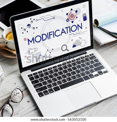 modification application invention technology icon stock photo edit