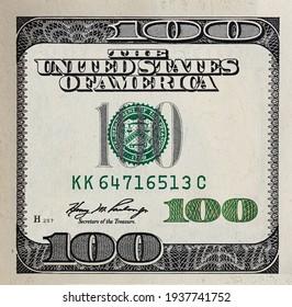 Modified decorative 100 dollar bill artwork