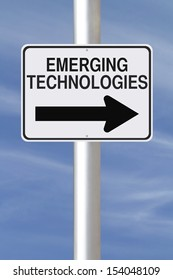 A modified one way street sign on Emerging Technologies