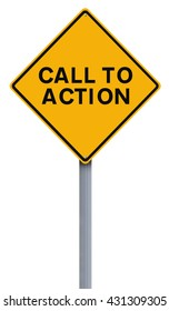 Modified road sign indicating Call to Action