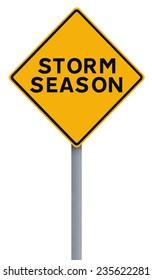 Modified road sign indicating Storm Season