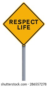 Modified road signs on Respect Life