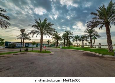 Modon lake Park morning view -Clicked at modon lake dammam Saudi Arabia January 24 2019.