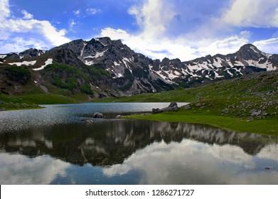 Modro Jezero Lake in the Durmitor Mountain Region, Montenegro