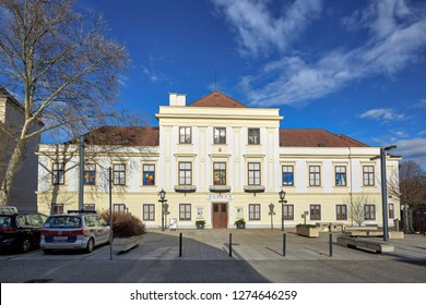 MOEDLING, AUSTRIA - DECEMBER 28, 2018. Museum Moedling-Thonetschloessl on a sunny winter day. Town of Moedling, Lower Austria, Europe.