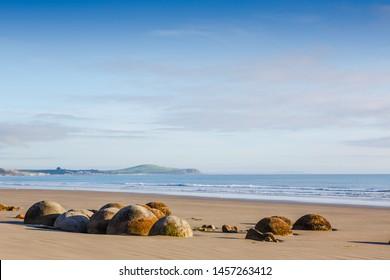 Moeraki Boulders, Koekohe beach,Otago, South Island, New Zealand