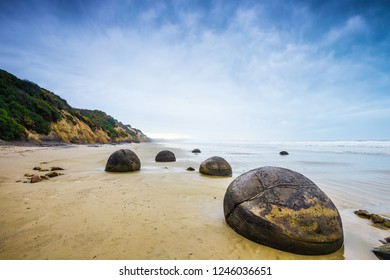 Moeraki Boulders. Near Oamaru. Otago coast, New Zealand