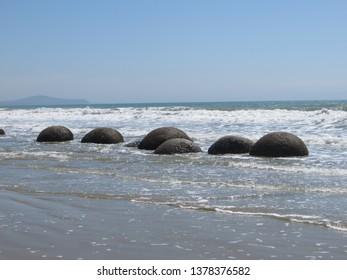 Moeraki Boulders New Zealand - Shutterstock ID 1378376582