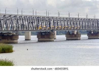 MOERDIJK - THE NETHERLANDS - JULY 24: Moerdijk Bridge Get new rails on July 24, 2017