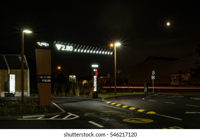 MOERS / GERMANY - JANUARY 01 2017: Fast food drive in without a car