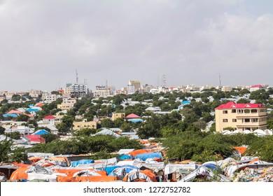 MOGADISHU, SOMALIA - SEP 30, 2014 : View of Mogadishu, Mogadishu is the capital city of Somalia