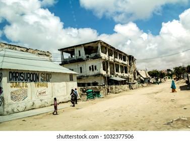 MOGADISHU,SOMALIA - SEP 30, 2014 : View of Mogadishu, Mogadishu is the capital city of Somalia