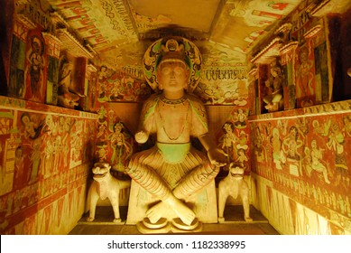 Mogao Caves, Thousand Buddha Grottoes, 27 of July, 2011. Silk Road, in Gansu province, Dunhuang, China.