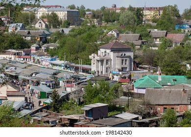 MOGILEV, BELARUS - JUNE 1, 2014: View of the city of Mogilev day.cityscape