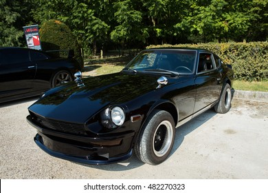 Mogliano Veneto,Italy Sept 11,2016:Photo of a Datsun 240z at meeting Top Selection 2016. The Datsun was the first generation of Z GT two-seat coupe, produced by Nissan Motors, Japan from 1969 to 1978.