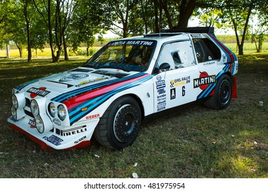Mogliano Veneto,Italy Sept 11,2016:Photo of a Lancia Rally S4 at meeting Top Selection 2016.The Delta S4 competed in the World Rally Championship in 1985 and 1986, until Group B class was disbanded.