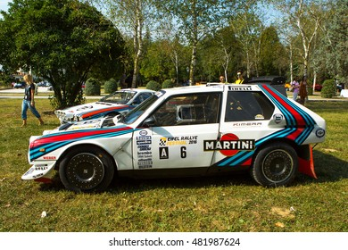 Mogliano Veneto,Italy Sept 11,2016:Photo of a Lancia Rally S4 and 037 at meeting Top Selection 2016.Delta S4 competed in the World Rally Championship in 1985, 1986, until Group B class was disbanded.