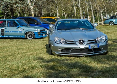 Mogliano Veneto,Italy Sept 11,2016:Photo of a McLaren Mercedes SLR at meeting Top Selection 2016. Mercedes and McLaren ,built in Portsmouth and the McLaren in Woking, UK and sold from 2003 to 2010.