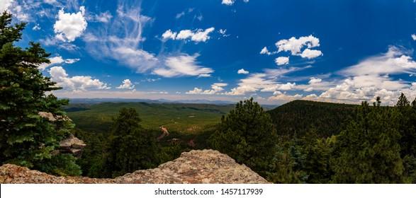 Mogollon Rim, wide angle view looking West / Southwest