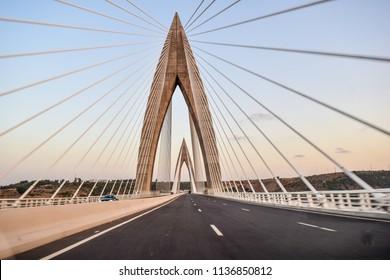 Mohamed 6 bridge over bouregreg ouad rabat morocco