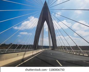 Mohamed 6 bridge over oued bouregreg rabat morocco