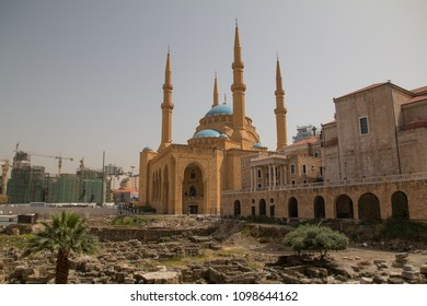 Mohammed-al-Amin-Mosque and Saint Georges Maronite Cathedral, Beirut, Lebanon, Middle East