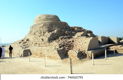 MOHENJO DARO, PAKISTAN - OCT 29: Eye-catching and very fascinating views of World Heritage Monuments of Mohenjo Daro on October 29, 2017 in Mohenjo Daro.
