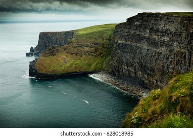 Moher cliffs at west atlantic coast in ireland