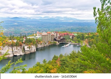 Mohonk Mountain House, located in upstate New York in the Shawangunk Mountains