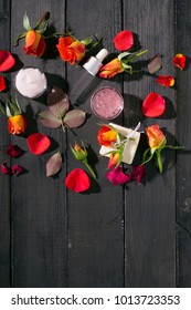 moisturizer and red roses