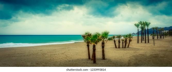 Mojacar playa at storm