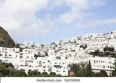 Mojacar white village in Almeria Spain on September 16, 2017