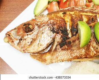 Mojarra Frita, a Mexican entree with fish.