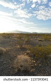 Mojave Desert landscape Pahrump, Nevada, USA