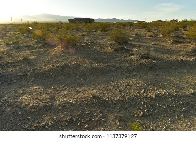 Mojave Desert landscape valley mountains Pahrump, Nevada, USA