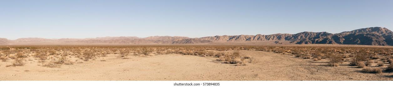 Mojave Desert panoramic view, California, USA