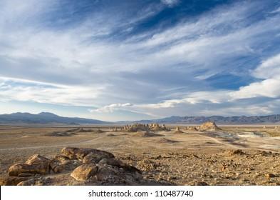 Mojave desert rock formation near Ridgecrest and Death Valley California