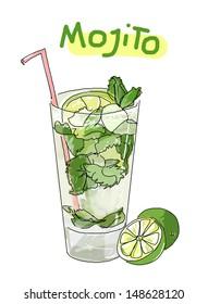 mojito cocktail craphic