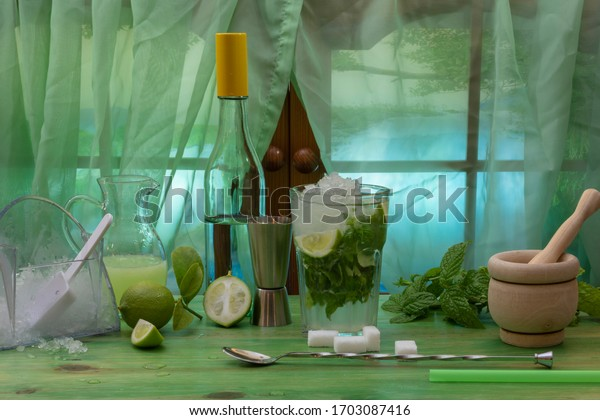 mojito-cocktail-ingredients-preparation-
