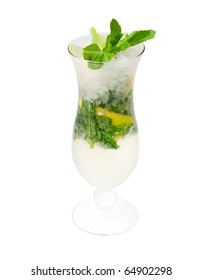 Mojito cocktail.isolated on white background.clipping Path