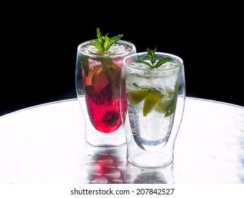 Mojito cocktails - Lime original and strawberry