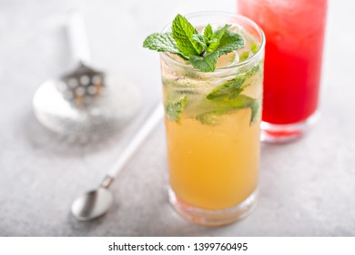 Mojito and Sea breeze cocktails or mocktails